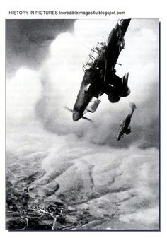 A screaming Stuka dive bomber goes for the kill