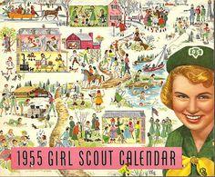1955 Girl Scout Calendar