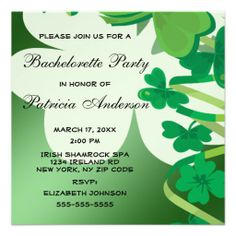 >>>Hello          Irish Green Shamrock Clover Bachelorette Party Custom Invite           Irish Green Shamrock Clover Bachelorette Party Custom Invite lowest price for you. In addition you can compare price with another store and read helpful reviews. BuyHow to          Irish Green Shamrock ...Cleck Hot Deals >>> http://www.zazzle.com/irish_green_shamrock_clover_bachelorette_party_invitation-161688171052193535?rf=238627982471231924&zbar=1&tc=terrest