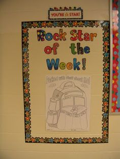 The Adventures of Miss Elisabeth: rock star of the week using Creative Teaching Press's Poppin' Patterns starts.