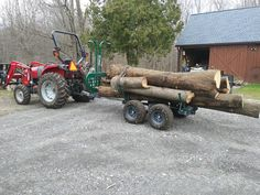 Load test, Very happy with the performance. Hooked to a 40hp, trailer set to max width, and length. Pulled at 5kph. I pulled in two loads what would have taken 5 or six in the past. Bonus, the turf tires smooth the ag tractor tire mark out of the trail   #multilander #atv #offroadtrailer #loggingtrailer #woodlandmills #maple #tractor #atvtrailer #logging #dumptrailer  www.woodlandmills.com Atv Trailers, Dump Trailers, Atv Utility Trailer, Tire Marks, Tractor Tire, Off Road Trailer, T Rex, Offroad, Tractors