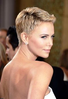 cool Charlize Theron Short Hair