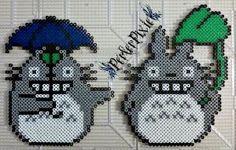 Studio Ghibli - Rainy Day Totoro by PerlerPixie