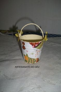 Mini Baldinho Cupcake - R$ 10,00 Cod.PMC 019 - VENDIDO