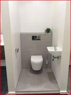 Small Bathroom Design with Separate toilet Room Lovely Hellgrau Bathroom toilet Wc Badkamer Muurtje toiletpot Mosa Tegels Small Toilet Room, Guest Toilet, Downstairs Toilet, Cheap Bathrooms, Grey Bathrooms, Modern Bathroom, White Bathroom, Modern Sink, Ikea Bathroom