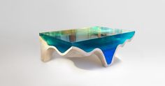 Crete Table, Acrylic & Marble www.eduardlocota.com