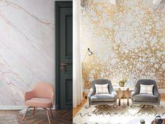tendencias decoración 2017 para tu salón papel pared