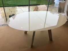 Elegant glass oval table with chrome legs. Table size from and fully extends to Delivered to our client in Surrey. Oval Table, Dining Table, Table Sizes, Surrey, Chrome, Moon, Legs, Elegant, Furniture