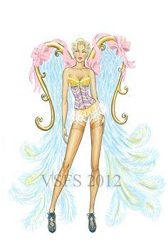 Victorias Secret Fashion Show Costumes - Models Underwear Lingerie (Vogue.com UK)