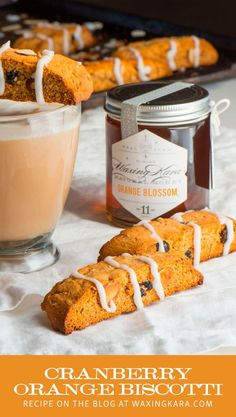 This cranberry orange biscotti is the perfect breakfast snack.Why sit down to a cup of coffee without a treat nearby? That's why this Honey Orange Cranberry Biscotti recipe will come in Just Desserts, Delicious Desserts, Dessert Recipes, Dinner Recipes, Honey Recipes, Healthy Recipes, Easy Recipes, Slow Cooker Recipes, Cooking Recipes