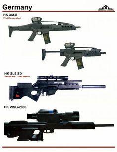 Германия: HK XM-8 Generation 2, HK SL-9 SD, ...