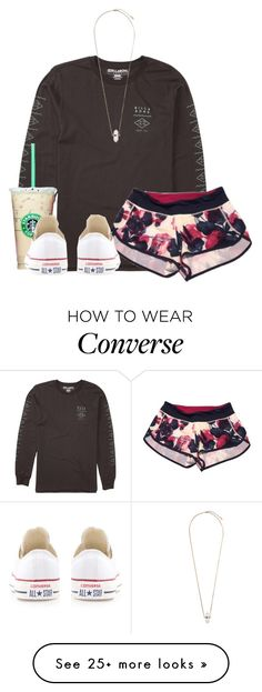 """the biggest pain is seeing someone you love, love someone else.."" by ellababy13 on Polyvore featuring Billabong, lululemon, Topshop, Converse, women's clothing, women, female, woman, misses and juniors"