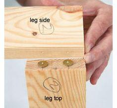 HOME DZINE Home DIY   Make a flip-up   flip-down table