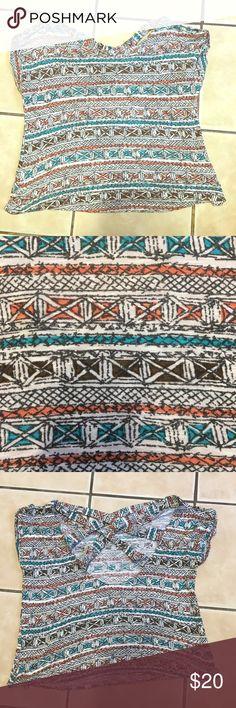 Lush tribal print medium top Lush tribal print medium top Lush Tops