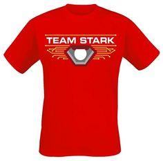 Iron Man Captain America Civil War - Team Stark T-Shirt rot S