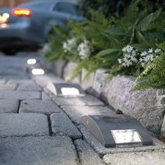 Solar powered LED driveway lights save energy by harnessing the power of the sun