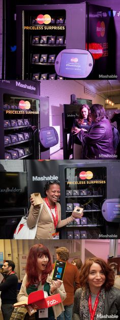 Máquina #vending de MasterCard´s configurada para conseguir regalos mediante Twitter | MasterCard's Priceless Surprises gave away a lot more than candy with their Twitter-enabled vending machine at SXSW.