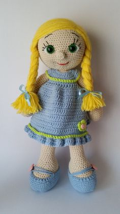 Crochet doll amigurumi doll crocheted doll toy by Hippehaakselss