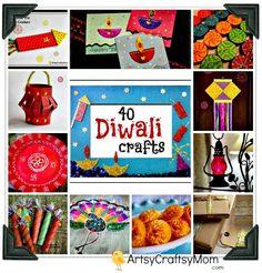 Diwali craft collection | 40+ Diwali Ideas   Cards, Crafts, Decor, DIY | India Crafts Glitter crafts foam Diwali