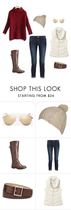 """""""Winter Mountain Getaway"""" by naturallychic-1 on Polyvore featuring Le Specs, Billabong, Avenue, Frame Denim, Mixit, Joules and Chicwish #mountainfashion #skitown #banff #fashion #winter #mountains"""