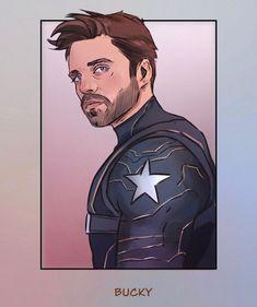 Avengers Fan Art, Marvel Art, Marvel Heroes, Marvel Characters, Marvel Avengers, Marvel Drawings, Anime Drawings Sketches, Bucky Barnes Fanart, Soldier Drawing