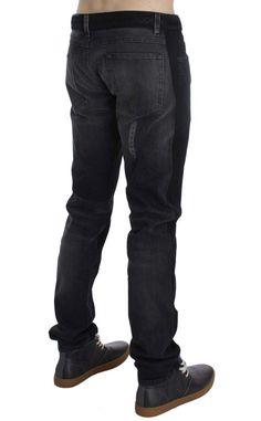 Dolce & Gabbana Gray Torero Denim Slim Fit 14 GOLD Jeans
