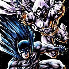 Batman and moon knight Batman Wallpaper, Moon Knight, Weird, Joker, Crossover, Classic, Fictional Characters, Art, Audio Crossover