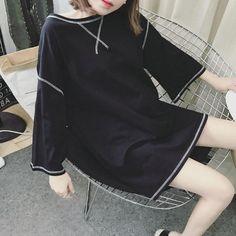 #TP29564 In-styles Hipster Ladies Fashion Round-neck Loose Big Shirts Dress Price:RM40 Weight:0.17KG Color:Black White Size:M L XL XXL Fabric: Cotton M: Length: 72cm Bust: 84cm L: Length: 74cm Bust: 86cm XL: Length: 76cm Bust: 88cm 2XL: Length: 78cm Bust: 90cm _ #koreanfashion #bajukorea #koreandress #koreanblouse #sweater #hoodie #dress #blouse #cardigan #jacket #koreanbag #begkorea #handbag #backpack #slingbag #purse #koreanshoes #kasutkorea #sneakers #sportshoes #heels #wedges #boots…