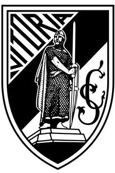 Vitoria SC of Guimaraes, Portugal crest. Football Team Logos, Soccer Logo, World Football, Football Soccer, Sports Logos, Soccer Teams, Europa League, Most Popular Sports, Live Stream