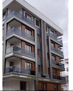 Condominium Architecture, Architecture Building Design, Building Facade, Building Exterior, Residential Architecture, Design 3d, Facade Design, Exterior Design, Bungalow Haus Design