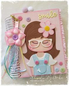 Foam Crafts, Diy And Crafts, Crafts For Kids, Arts And Crafts, Paper Crafts, Barbie Images, Decorate Notebook, Notebook Covers, Cover Pages
