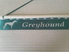 New your dog breed personalised rosette holder