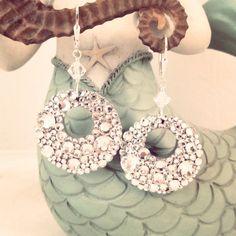 Wedding jewelry  crystal bling dangle earrings  by GlamorousHippie, $50.00