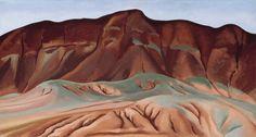 Georgia O'Keeffe, Purple Hills Ghost Ranch-2 / Purple Hills No II, 1934