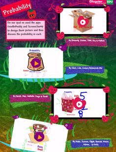 Probability lesson using iPad, Doodle Buddy & Screen Chomp apps