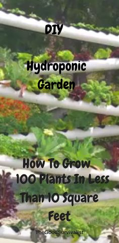 You're going to love this hydroponic garden tower. When completed you will be able to grow over 100 plants in less than 10 square feet. You'll save a ton of water, and money by making this system.  http://www.thegoodsurvivalist.com/diy-hydroponic-garden-tower-lets-you-grow-over-100-plants-in-less-than-10-square-feet/