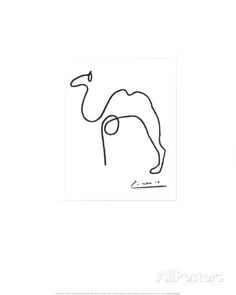 De kameel Print van Pablo Picasso - bij AllPosters.be