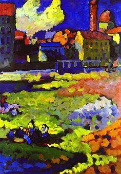 """""""München-Schwabing mit Ursulakirche"""" - Wassily Kandinsky 1908"""