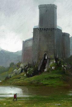 underground fantasy for your pleasure Fantasy City, Fantasy Castle, Fantasy Places, Fantasy World, Dark Fantasy, Fantasy Concept Art, Fantasy Artwork, Medieval Castle, Medieval Fantasy