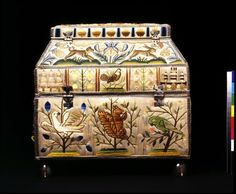 Embroidered casket   Edlin, Martha   V&A Search the Collections