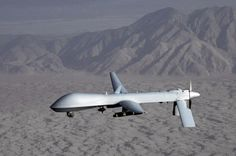 The General Atomics Predator is an unmanned aerial vehicle (UAV) used primarily by the United States Air Force & Central Intelligence Agency. Surveillance Drones, Uav Drone, Security Surveillance, General Atomics, Belle France, Spiegel Online, Foreign Policy, Air Force, Military Aircraft