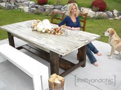 concrete top patio table | Thrifty and Chic - DIY Projects and Home Decor