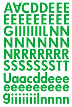 "Alphabet Sticker ""Lisa"" – grün (Ergänzung)"