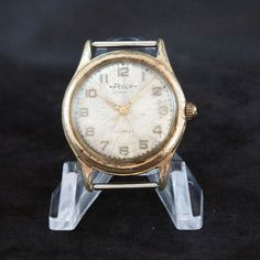 No-Reserve Auction FELCA Swiss Vintage Watch 21j AS Cal. 1506-7 Parts or Repair