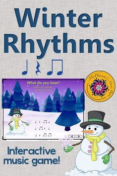 Elementary music rhythm game perfect for winter! Your classes will love the interactive game while reviewing eighth notes! Engaging activity to add to lesson plans!