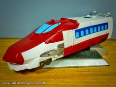 Opitmus ExPrime's vehicle more is.... boring. It's a train. Well the front of a train. That's it? Not really fans here. In the cartoons, the train travels along a solid-light set of tracks that can actually be used to ram his opponents. Optimus Prime's train mode can also float in the air and teleport. But it's still kinda meh #Transformers #TransformersGo #OptimusPrime #OptimusExPrime
