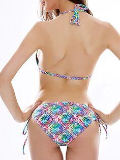 f1fd77c6acd34 Printed Halter Backless Bikini Swimsuit Swimwear For Women. Bikini  SwimsuitSexy BikiniTankinisSwim DressPlus Size ...