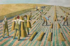 British painter and Women's Land Army artist Evelyn Dunbar, ...Girls Learning to…