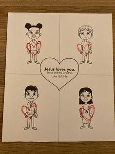 Sample for Toddlers week 1; Jesus Loves the Children