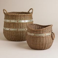 Calley Rattan and Metal Baskets | World Market